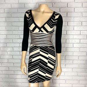 Bebe Women's Geometric Pattern Sweater Dress